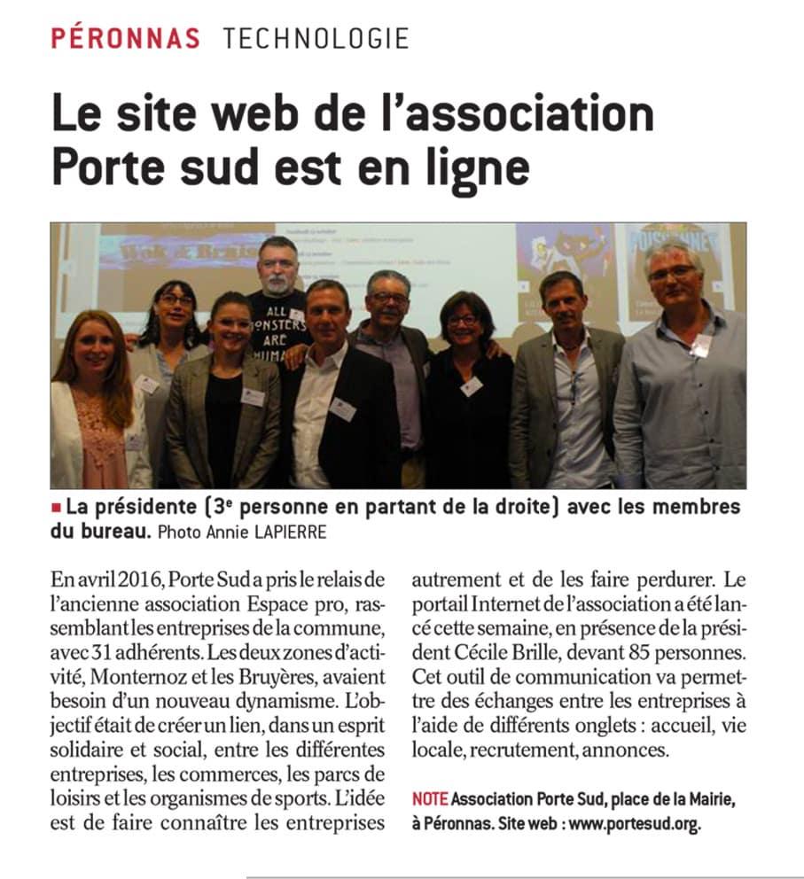 Porte Sud article Progrès